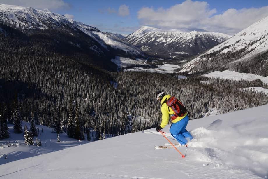 skier at whistler blackcomb