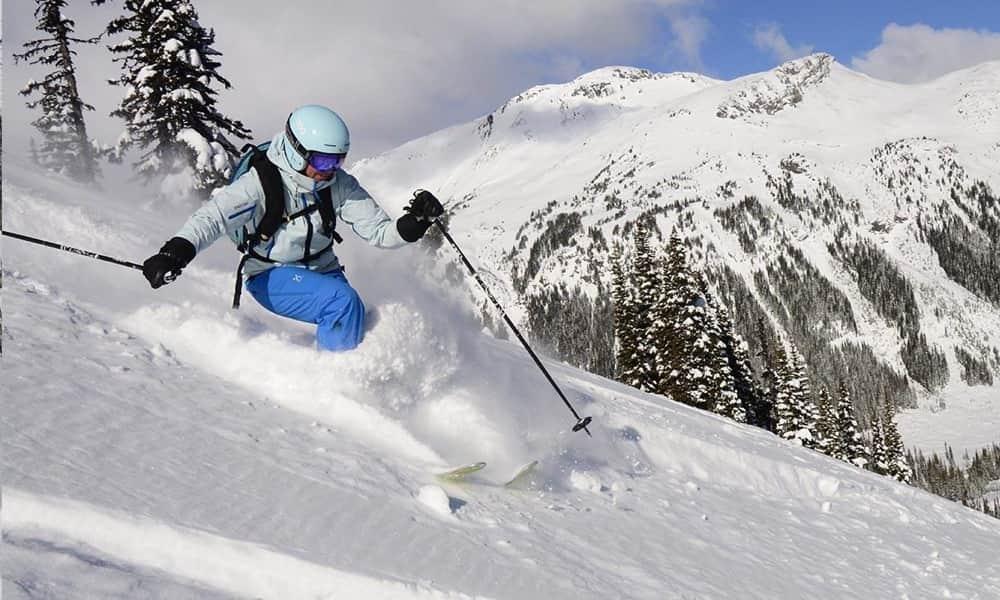 skier on whistler blackcomb