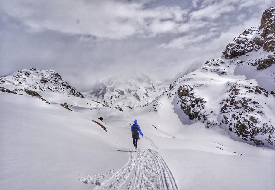 Mountain Snow Cloud Person