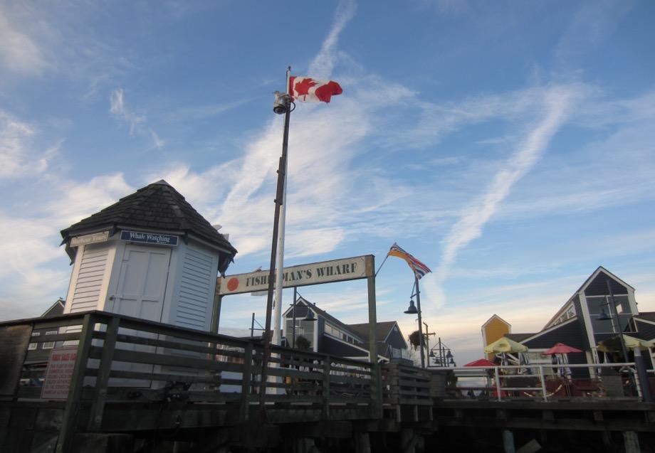 Canada Flag Blue Sky