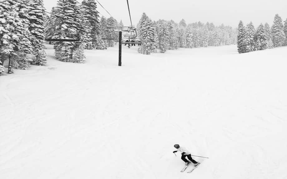 Skiier Snow Trees Sky